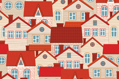 Link toRed roof home background vector