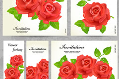 Link toRed rose invitation card vector