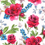 Link toRed roses seamless background vector