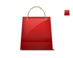 Link toRed shopping bag icon