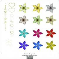 Link toRed silk flower design 01