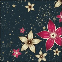 Link toRed silk flower design