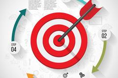 Link toRed target business information maps vector