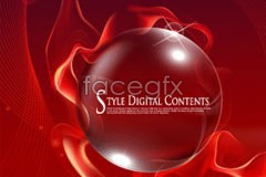 Link tovector background line fantasy with ball crystal textured Red