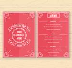 Red valentine's menu vector