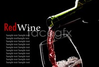 Red wine poster hd picture