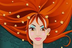 Redhead beauty vector
