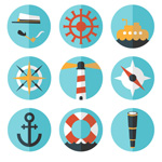 Link toRefined navigation icons vector
