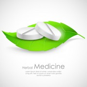 Refreshing herbal medical vector background 01 free