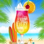 Link toRefreshing summer time vector background 02 free