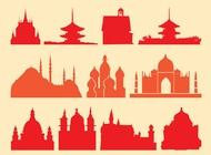 Link toReligious buildings vector free