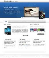 Link toReminard free psd web template