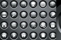 Link toRemote control round button crystal icon vector