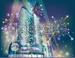 Link toResplendent city night scene vector