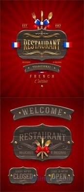 Link toRestaurant banner design-vector template