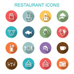 Link toRestaurant food icons vector