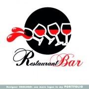 Link toRestaurant logos design elements vectors set 03