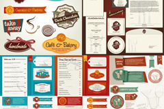 Restaurant menu labeling vector