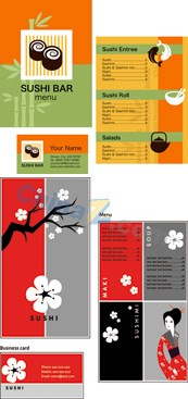 Restaurant menus and business cards vector