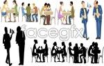 Restaurant people cartoon vector