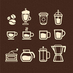 Link toRestaurant small icons vector