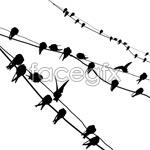 Link toResting birds vector