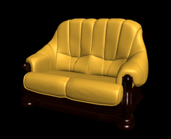 Link toRestore ancient ways classic yellow double leather sofa 3d models
