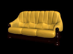 Link toRestore ancient ways classic yellow people sofa 3d models