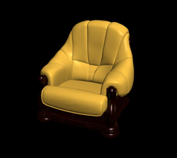 Link toRestore ancient ways classic yellow single leather chair 3d models