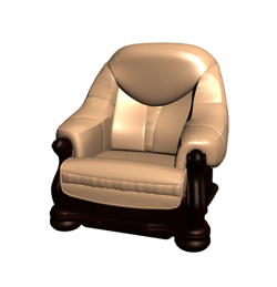 Link toRestoring ancient ways of woodiness single person sofa chair golden 3d models