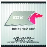 Link toRetro 2014 horse year design vector background 02