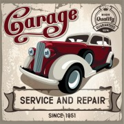 Link toRetro auto service and repair poster vector 02 free