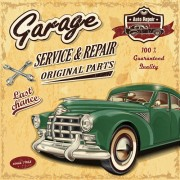 Link toRetro auto service and repair poster vector 04 free