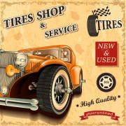 Link toRetro auto service and repair poster vector 05 free