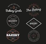 Link toRetro bakery labels vector