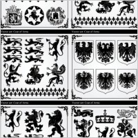 Link toRetro black and white graphic pattern vector