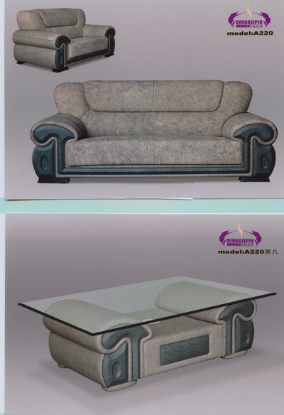 Link toRetro blue gray leather sofa 3d model