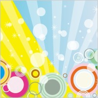 Link toRetro blue yellow vector background