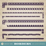 Link toRetro border decoration element vector 02