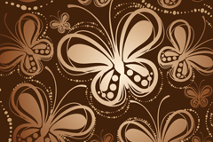 Link toRetro brown butterfly seamless vector background