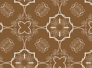 Link toRetro brown pattern vector free
