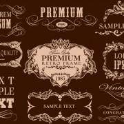 Link toRetro calligraphic frame labels decor vector 03 free