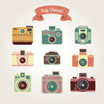 Link toRetro camera icon vector