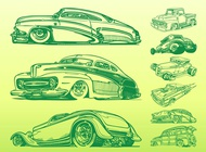 Link toRetro cars graphics vector free