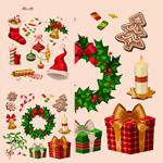 Link toRetro christmas elements vector