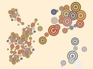 Link toRetro circles vector free