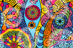 Link toRetro colorful flower background vector