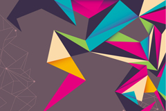 Link toRetro colorful origami background vector