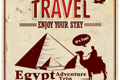 Link toRetro egypt travel posters, vector