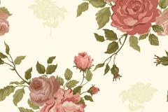 Link toRetro elegant rose background vector